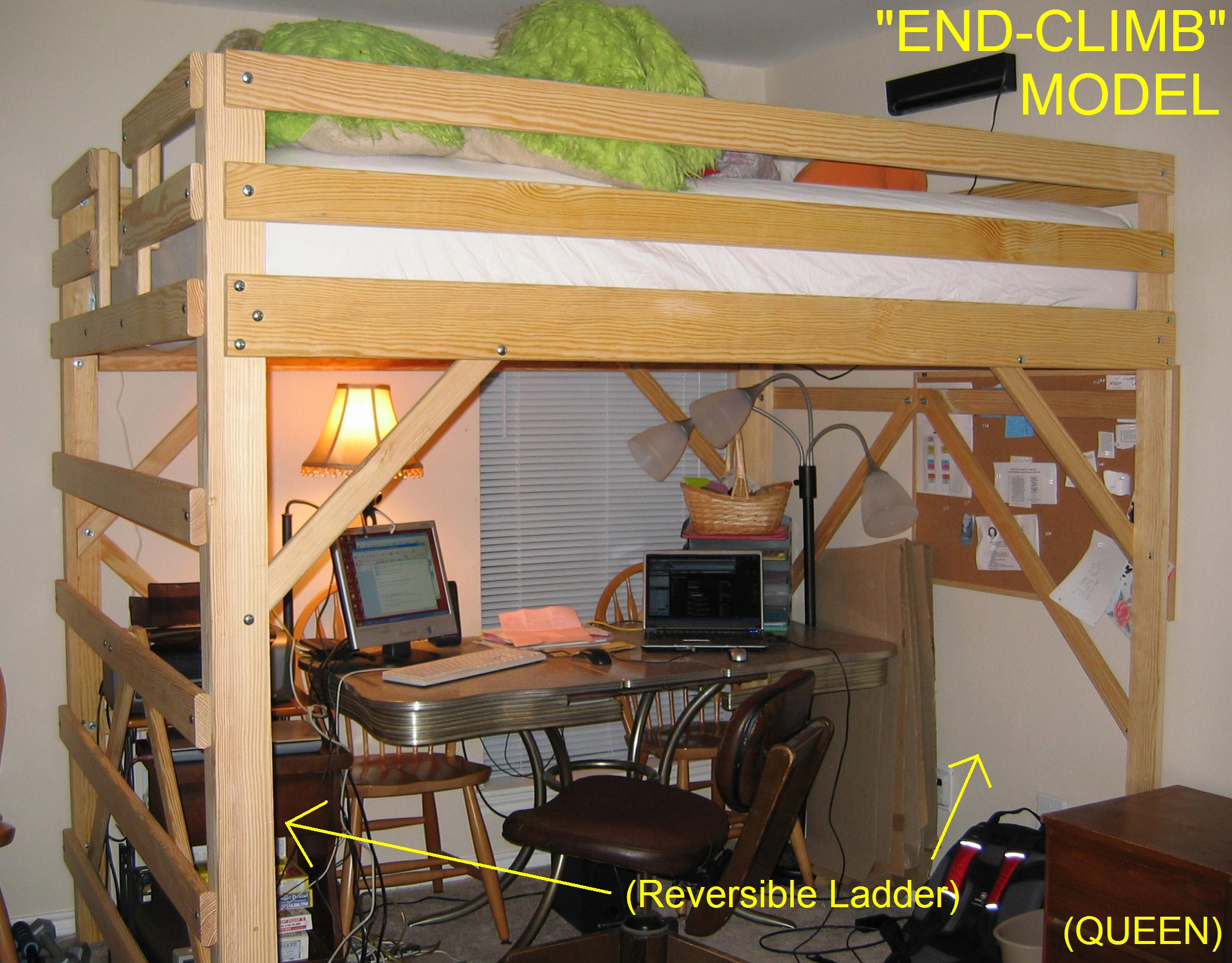 Loft Beds By Mc Woodworks Twin Full King Queen Loft Bed Bunk Bed
